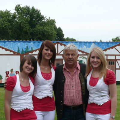 Stephanie, Franziska, der super liebe Veranstalter Armin Homann und Alexandra