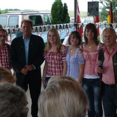 Heinz Koch, Günther Behrle, Alexandra, Stephanie, Franziska, Armin Homann